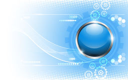 Vector abstract button template technology concept background Royalty Free Stock Image