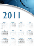 Vector abstract calendar 2011. Year royalty free illustration