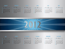 Vector abstract calendar 2012 Royalty Free Stock Images