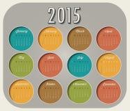 Vector abstract calendar 2015 Royalty Free Stock Photos