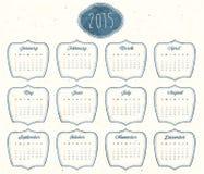 Vector abstract calendar 2015 Royalty Free Stock Photography