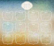 Vector abstract calendar 2015 Stock Photography