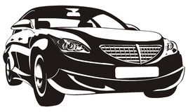 Vector abstract car isolated Royalty Free Stock Photography