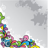 Vector abstract cartoon background Stock Photos