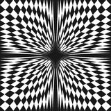 Vector abstract checkered seamless pattern. Зщз фке іендую. Vector abstract checkered seamless pattern. Distorted surface, optical illusion effect Royalty Free Stock Photos