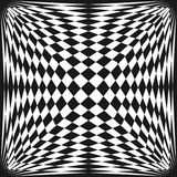 Vector abstract checkered seamless pattern. Square repeat design element. Vector abstract checkered seamless pattern. Stretched surface, optical illusion effect Stock Images
