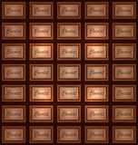 Vector abstract chocolate background Royalty Free Stock Photos
