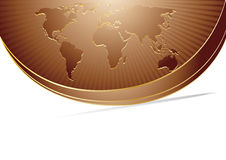 Vector abstract chocolate background with map Stock Photography