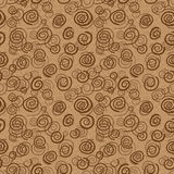 Vector abstract chocolate pattern - seamless backg Royalty Free Stock Image