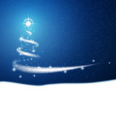 Vector abstract Christmas background. Blue Christmas background, blizzard with stars Royalty Free Stock Images