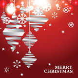 Vector abstract Christmas banner Royalty Free Stock Images