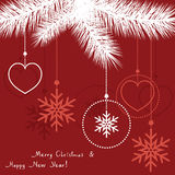 vector abstract christmas decoration Stock Photo