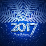 Vector abstract Christmas snowflake Stock Photography
