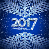Vector abstract Christmas snowflake Royalty Free Stock Images