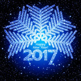 Vector abstract Christmas snowflake Royalty Free Stock Photo