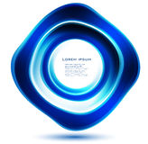 Vector abstract circle blue. curve Royalty Free Stock Photography