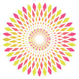 Vector abstract circle flower Royalty Free Stock Photos
