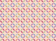 Vector abstract circle geometric pattern ornament. Background for cards, web, fabric, textures, wallpapers, tile, mosaic. colorful spring summer pattern stock illustration