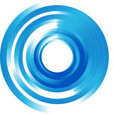 Vector abstract circle and wave. Royalty Free Stock Photo