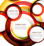 Vector abstract circles. Banner with sample text Stock Images