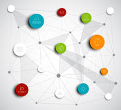 Vector abstract circles infographic network template Royalty Free Stock Image