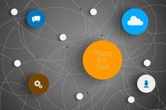 Vector abstract circles Stock Image