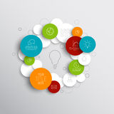 Vector abstract circles infographic template Stock Photo