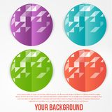 Vector abstract circles template. Object web Royalty Free Stock Images