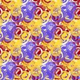 Vector abstract circular seamless pattern royalty free illustration