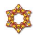 Vector abstract circular star pattern design mandala style.  Stock Image