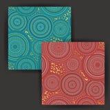 Vector Abstract Cirkel Naadloos Patroon met het Gouden Effect van de Foliezegel Stock Afbeelding