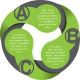 Vector abstract cirkeldiagram met ABC Stock Afbeeldingen