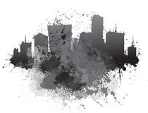 Vector abstract cityscape. Royalty Free Stock Image