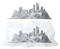 Vector abstract cityscape. Royalty Free Stock Photos