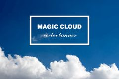 Vector abstract cloud banner. Royalty Free Stock Photos
