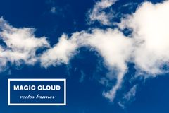 Vector abstract cloud banner. Stock Photos