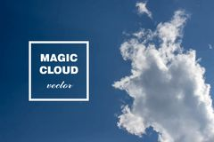 Vector abstract cloud banner. Stock Images