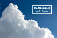 Vector abstract cloud banner. Stock Image