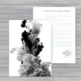Vector abstract cloud. Ink swirling in water, cloud of ink in wa Stock Images