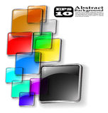 The vector abstract color background royalty free illustration