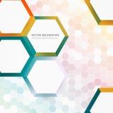 Vector abstract color 3d hexagonal Royalty Free Stock Photos