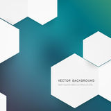 Vector abstract color 3d hexagonal Stock Photos