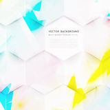 Vector abstract color 3d hexagonal. Background with hexagon element Vector Illustration