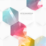 Vector abstract color 3d hexagonal Royalty Free Stock Photography