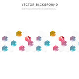 Vector abstract color 3d hexagonal. Background with hexagon element Stock Image