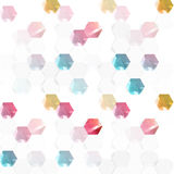 Vector abstract color 3d hexagonal. Background with hexagon element Stock Photography