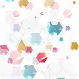 Vector abstract color 3d hexagonal. Background with hexagon element Stock Photo