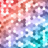 Vector abstract color 3d hexagonal Royalty Free Stock Photo