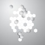 Vector abstract color 3d hexagonal. Honeycombs. Vector abstract color 3d hexagonal. Background with Honeycomb element Stock Image