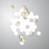 Vector abstract color 3d hexagonal. Honeycombs. Vector abstract color 3d hexagonal. Background with Honeycomb element royalty free illustration